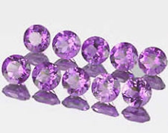 Lot of  10 Pieces AAA  Amethyst Round cut  6 MM Loose Gemstone Calibrated