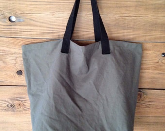 mens shopping tote, cotton shopping bag, gray canvas tote, Canvas Shopping Bag - More Colors