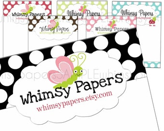 Hair Bow Display cards Whimsical Polka Dots
