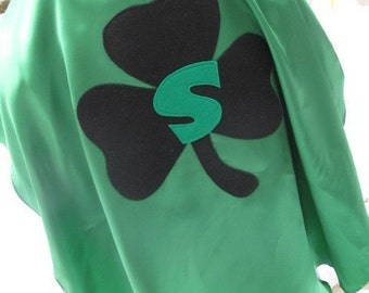 Adult Custom Shamrock Superhero Cape Custom Adult size St. Patricks Day party favors