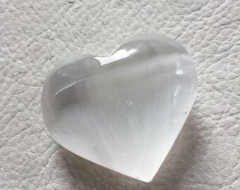 Selenite heart, polished crystal heart, metaphysical, new age, healing stone #2
