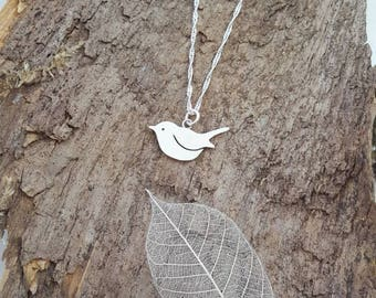 Beautiful Handmade 925 Sterling silver Robin/bird pendant/necklace - Bird lovers gift, Robin gift, bird gift