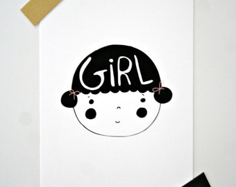 Postcard -Girl-