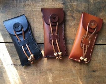 Leather Glasses Case Sunglasses Case Eyeglasses Case Custom Personalized Leather Handmade Hand Sewn & Dyed