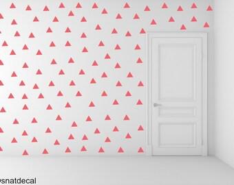 FREE SHIPPING Wall Decal Triangle RED, Each Kit 238. Wall Sticker. Homedecor.Nursery Wall Art.Geometric Wall Decal Kids Wall Decal