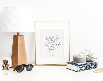 little by little one travels far / jrr tolkien / calligraphy print
