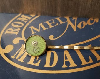 Green Clockwork Bobby Pin