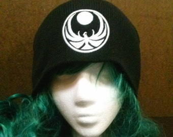 Skyrim Inspired Nightingale Crest beanie skull cap