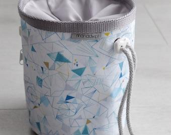 Unique Handmade Chalk Bag in Dashwood Studio fabric