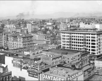 Poster, Many Sizes Available; Panoramic View Of Downtown Los Angeles Showing Pershing Square, Ca.1910 (5054) #031215