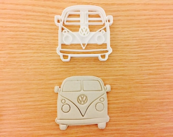 VW van Front cookie cutters Uk Plastic Cookie Cutter Fondant Cake Decorating
