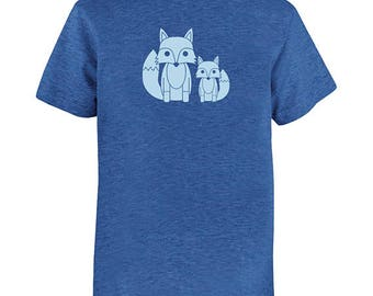 Fox Pair Kids Shirt - Cute Foxes - Boys Shirt / Girls Shirt Shirt - Multiple Colors Available - Gift Friendly - PolyCotton Blended Tees
