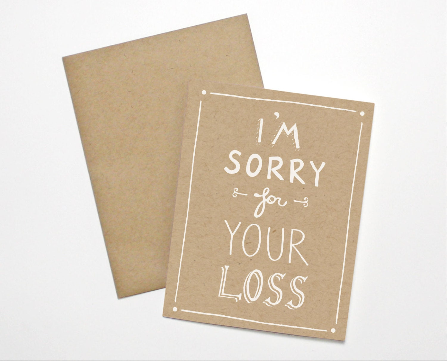 Sympathy Card Im Sorry For Your Loss