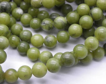 48 Nanyangt green jade 8 mm khaki Green