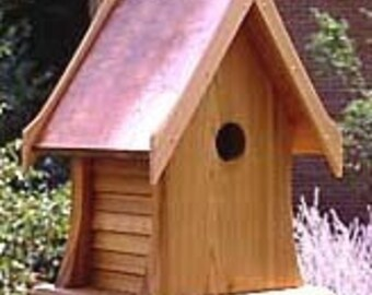 Cottage Birdhouse with Copper Roof
