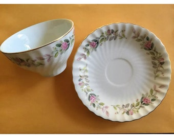Creative Fine China Pattern 2345 Regency Rose Tea Cup & Saucer