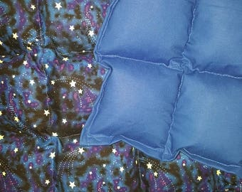 5lbs ALL cotton glow in the dark stars weighted blanket 38x70