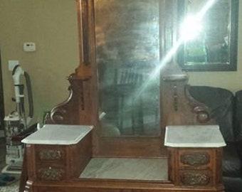 1890s Antique Victorian Walnut Dresser