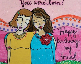 Greeting Card: Birthday Friend