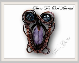 Oliver The Owl Pendant/Pin - Wire Wrap Tutorial