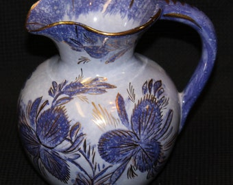Hand-painted made in Holland Blue Flower Pitcher