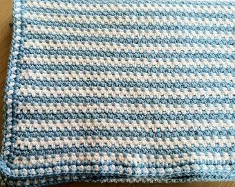 Crochet Pattern Baby Blanket Afghan, Ocean Breeze PDF 12-042 INSTANT DOWNLOAD