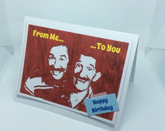 Birthday Card - Chuckle Brothers 1990s Comedy TV: A6 can be personalised