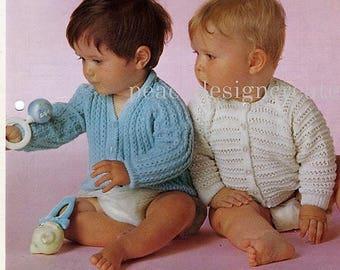 toddler, cardigans, knitting pattern, pdf, digital download