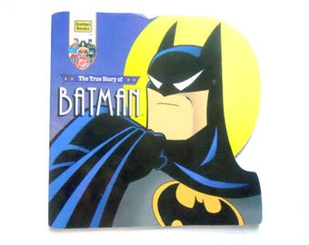 1995 Batman Golden Shape Book, Vintage Batman Book, Golden Super Shape Books, Vintage Children's Book from NewYorkPaperTrail on Etsy