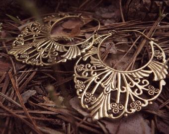 SALE!!! Royal Garden Brass Earrings