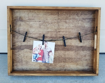 Rustic Photo Collage Wall Decor