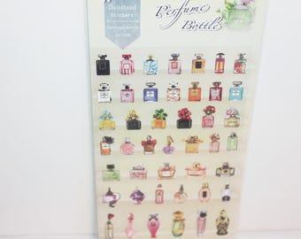 paper sticker perfume bottle