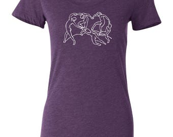 Henri Matisse Dancers Women's T-Shirt Bella + Canvas Purple Triblend Art History Series