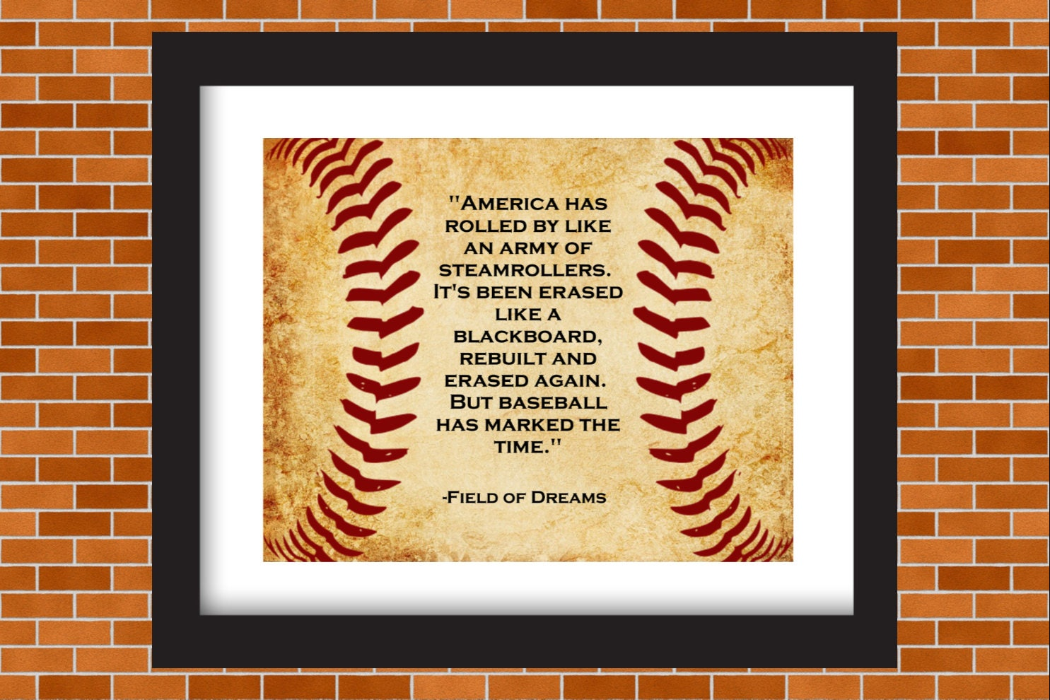 Printable Baseball Art Field of Dreams Baseball Quote Boys