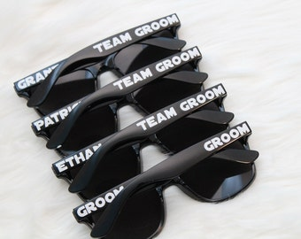 Bachelor Party Personalized sunglasses - Star Wars inspired - Team Groom - wedding party favor - bridal party sunglasses