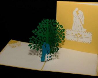 3-D Wedding Pop-Up Card