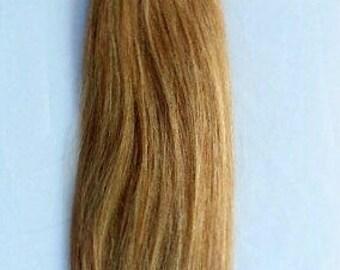 22inch 100 grams,100 Strands,Stick (I) Tip Human Hair Extensions 18 Dark Blonde