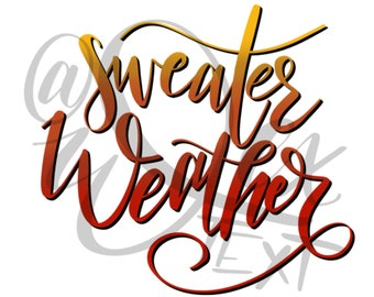 Sweater Weather - Desktop Background - digital download