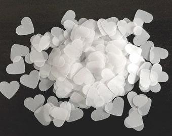 UpCycled Vellum Heart Confetti
