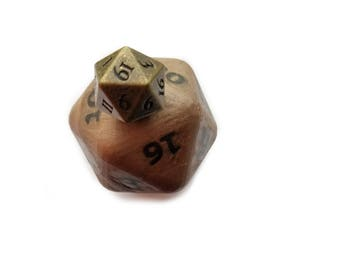 Pathfinder Polyhedral Dice d20 SOAP with Metal Dice Inside Free Dice Bag Bronze Dice RPG dice set Metal Dice Set Custom Dice DnD Dice Set