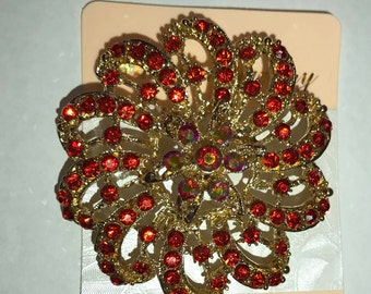 Beautiful Rhinestone Brooches for Turban, RED BLUE GREEN. Styling and Decor. Turban Accessories Head wrap Accessories . Hairpins  shopInobi
