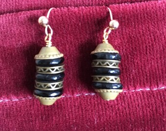 1930s bead earrings