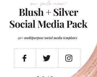 Blush + Silver Social Media Pack