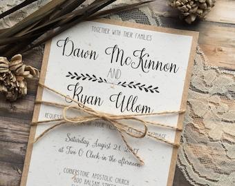 Wedding Invitations Paper Etsy