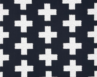 Changing Pad Cover | Navy and White Crosses
