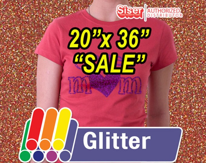 "20"" X 36"" / Easyweed Glitter HTV  / Combine for Shipping Discount - Heat Transfer Vinyl - HTV"