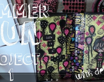 Summer Fun Project Packlet #1 Mixed Media Book INSTANT DOWNLOAD + Video Tutorial
