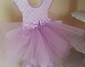 Double Sided Lavender TuTu Dress Centerpiece / Ballerina Baby Shower /  Ballerina Centerpiece
