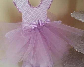 Double Sided Lavender TuTu Dress Centerpiece / Ballerina Baby Shower /  Ballerina Centerpiece