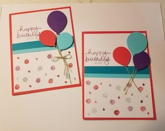 Birthday Card, Homemade Birthday Cards, Girl birthday card, Greeting Cards, Happy Birthday Card, Female Birthday Card